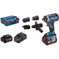Bosch Professional–Taladro atornillador GSR 18V de 60FC (2x 5,0Ah Batería, 18V, tornillos de ∅ Max.: 10mm, dinamométrica Max.: 60Nm, en L-Boxx)