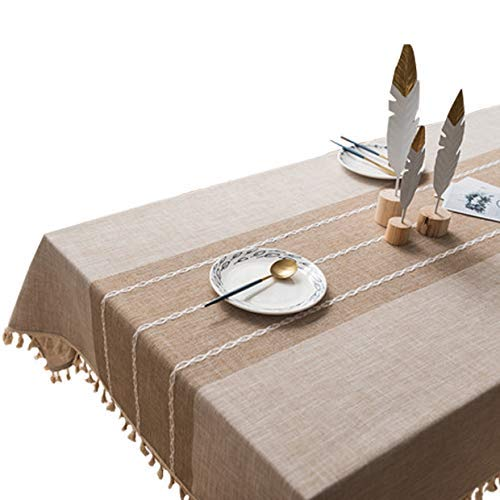 Seepong Diseño Encaje Flecos Paño Mesa Centro Algodón