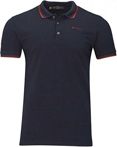 Ben Sherman Herren Shirt Poloshirt Script Polo, Farbe: Dunkelblau, Größe: M -
