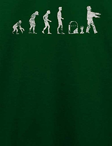 Evolution Zombie Vintage T-Shirt Dunkel Grün