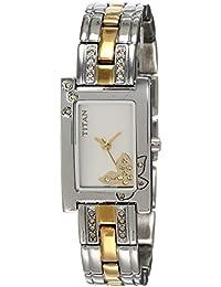Titan Raga Analog Silver Dial Women's Watch -NL9716BM01 / NL9716BM01