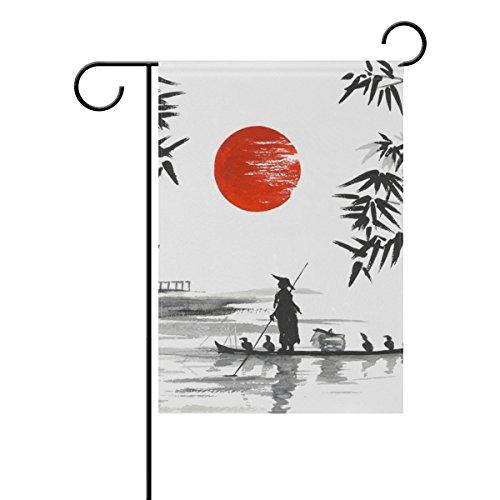 jstel Home Japanische Malerei Mann mit Polyester-Boot-Garten Flaggen Lovely und Schimmelresistent Custom von Wasserdicht 30,5x 45,7cm - Boot-männer Wasserdichte