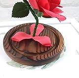 Jamicy LED Dekoration für Weihnachten, künstliche Blumen, romantische Glas Rose Hochzeitsdekoration Heimtextilien DIY Haus Garten Dekor (Rot) - 4