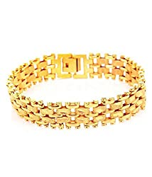 GoldNera Stylish Yo Yo Gold Plated Adjustable Bracelet for Men