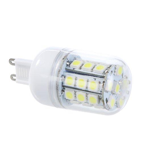 Deckenventilator Licht, 5 (Kingzer Infrarot-Empfänger (2 X 220 V, 30 SMD5050 G9 5W LED Mais Licht LED Lampe, Weiß)