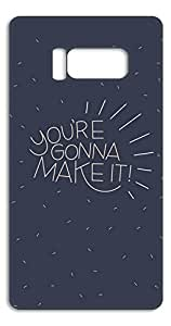Happoz You're gonna make it Samsung Galaxy S8 back case Mobile Cases Phone Back Panel Printed Fancy Pouches Accessories Z1419