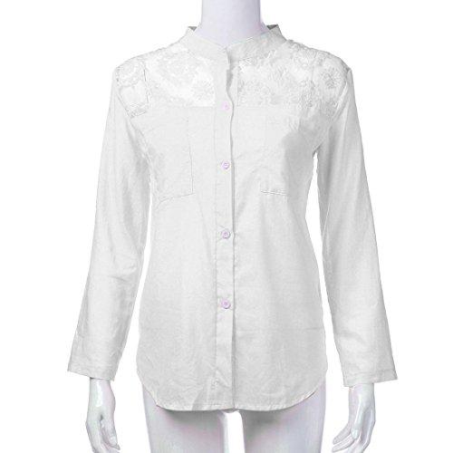 Xiantime Damen Oversize Bluse Shirt Große Größen Vintage Locker V-Ausschnitt Shirts Top...