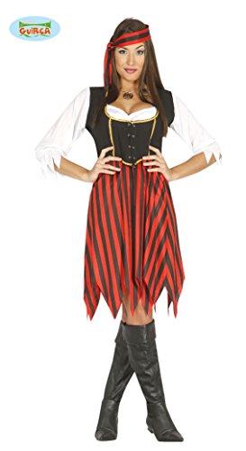 Piratin Kostüm für Damen Gr. M/L, Größe:L (Piraten Kostüm Für Damen)