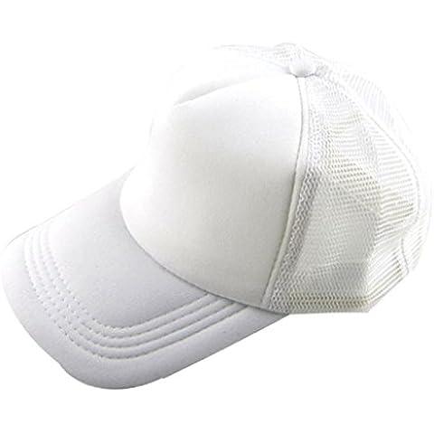 Berretto baseball Familizo Unisex cappello casuale Baseball Cap Trucker Solid Mesh Cappello Tongue vuoto visiera regolabile anatra (J)