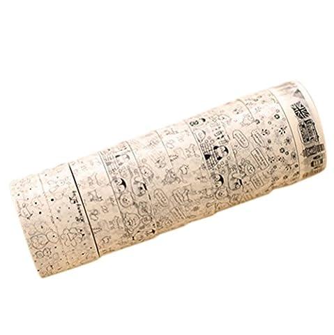 10PCS Da.Wa DIY 10M Washi Papier Band Adhesive Sticky Dekorative Scrapbooking Aufkleber für DIY Home Office School Supplies