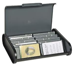 Exacompta 681714D Boîte à Fiches en Plastique Noir