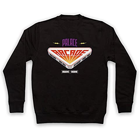 Stranger Things Palace Arcade Sweat-Shirt des Adultes, Noir, Small