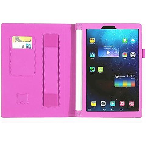 ISIN Funda para Tablet Serie Funda de Premium PU con Stand Función para Lenovo Yoga tab 3 8.0