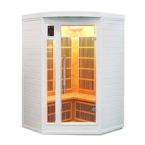 Sauna cabina ad infrarossi sole bianco 2-3 posti Sn-SOLEILBL2C