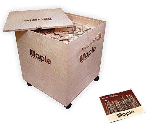Maple Maple Bauklötze für die psychomotorische Entwicklung 1000 Steine (20 mit Logo)
