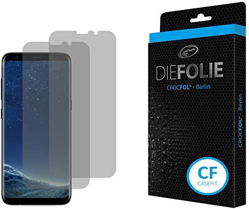 Crocfol Displayschutz für Samsung Galaxy S8: 2X DIEFOLIE Schutzfolie, 1x DASFLÜSSIGGLAS flüssiges Glas - Casefit Folie, Verwendung mit Schutzhülle