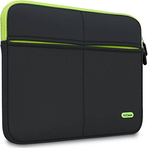 AirCase 15-Inch to 15.6-Inch Laptop Sleeve, Premium, Designer, Suave, 6-MultiUtility Pockets