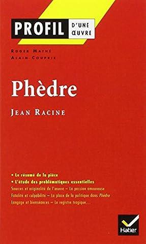 La France De Profil - Profil littérature, profil d'une oeuvre : Racine