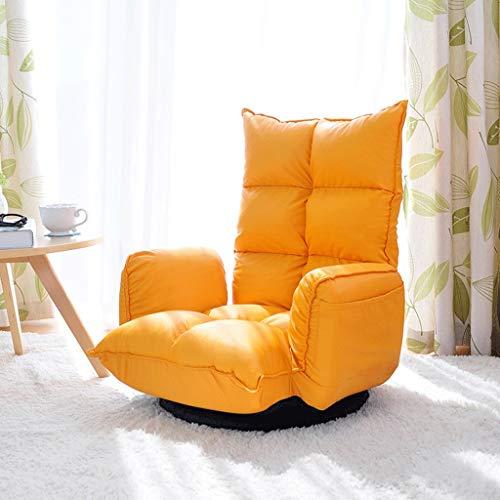 JTWJ Lazy Couch einzigen kreativen Wohnzimmer klappbar lässig Schlafzimmerstuhl 360 ° Drehung 14-Fach Hebelverstellung 3 Farben (Color : A) -