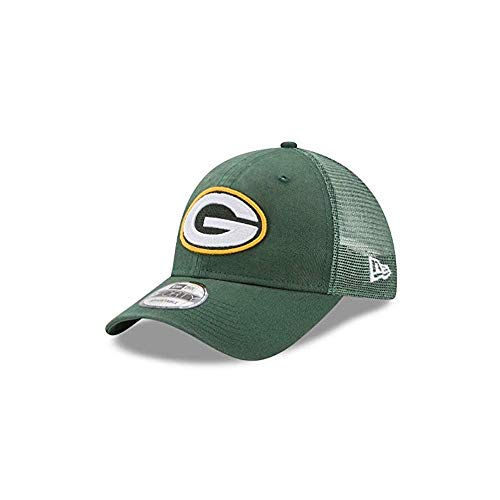 New Era Herren 9FORTY Trucker Washed Green Bay Packers NFL Cap, Dark Green