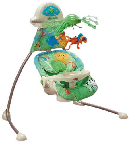 Fisher-Price K6077 - hamaca electrica para bebé, diseño de selva