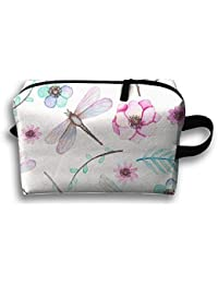 Watercolor Dragonfly Novelty Funny Canvas Makeup Bag Large Cosmetic Bag Carry Case