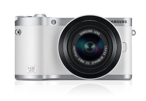 Best Samsung SMART NX300 Compact System Camera with 20-50mm Lens – White (20.3 MP, CMOS Sensor) 3.3 inch Amoled on Amazon