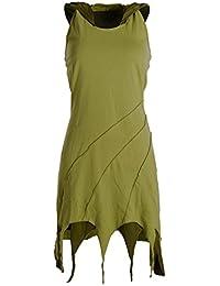 Vishes - Alternative Bekleidung - Kapuzen Lagenlook Zipfel-Neckholder aus Bio-Baumwolle