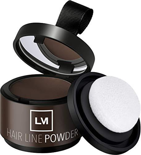 LEON MIGUEL Hair Line Powder - Ansatzpuder/Concealer | Haarverdichtung und Make-up zum Ansatz kaschieren | Wasserfest (Braun)