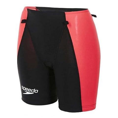 Speedo LZR Racer Comp Maillot de triathlon pour homme, femme, Women's Short Lzr Racer Tri Comp, noir/rose
