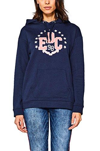edc by ESPRIT Damen Sweatshirt 127CC1J013, Blau (Navy 400), X-Small