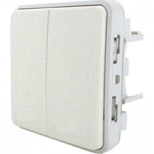 Legrand Plexo LEG69943 - Interruptor doble o conmutado (para combinar), color blanco
