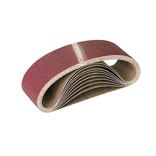 RETOL 10 bandes abrasives, 533 x 75 mm, G60, p. ponceuses à bande portatives, corindon normal