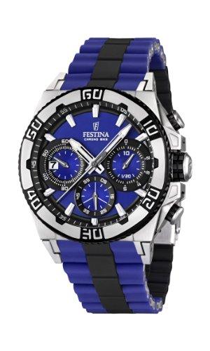 Festina Herren-Armbanduhr XL Tourchrono 2013 Chronograph Quarz Verschiedene Materialien F16659/6