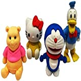 #8: Matrixweb Doremon,Pooh,Donald Duck,Hello Kitty Colorful Eraser Collectables and Gifting Purpose Pack of 4
