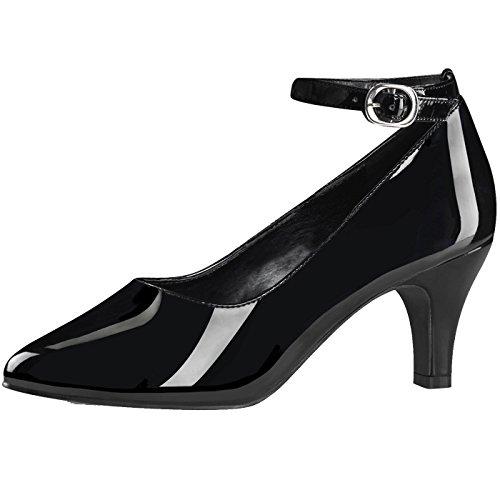 Heels-Perfect , chaussons d'intérieur femme Schwarz (Schwarz)