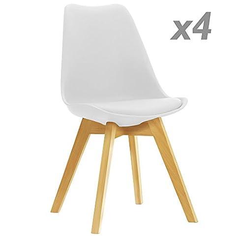 Chaise inspirée Tulip blanc 4