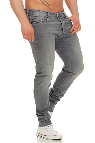 Diesel Tepphar R050G_Stretch Herren Jeans Hose Slim Skinny (Grau, W30/L32) -