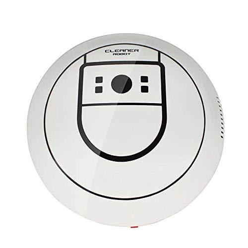 Giow Intelligenter Roboter-Staubsauger, Staubsauger Starke Saugleistung Geräuscharm,White