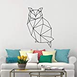 YuanMinglu Geometrische Tier Eule Dekorative Wandtattoo Bewegliche Eule Vinyl Kunst Wandaufkleber Moderne 151x100 cm