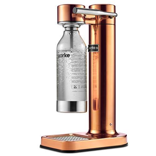 Aarke Carbonator II Wassersprudler (Edelstahl Gehäuse, Soda Sprudelwasser, inkl. PET-Flasche, kompatibel mit CO2 Sodastream Zylindern) Kupfer