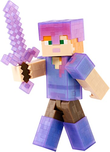 Minecraft - Alex avec Armure - Figurine Articulée 12 cm + Accessoires