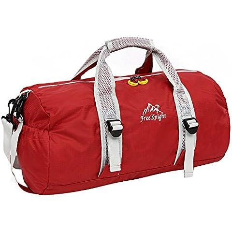 Esterna del sacchetto pieghevole borsa da viaggio degli uomini di ginnastica di riposo Grande borsa a spalla Fitness Sport Duffle cilindrica alpinismo - Grande Rotonda Borsone