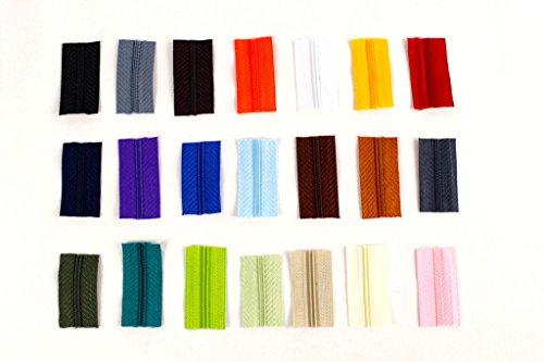 Reißverschluss, Meterware Endlosreißverschluss 3 mm, FARBEN NACH WAHL, +1 Schieber pro FARBE, Farbe:244 mint
