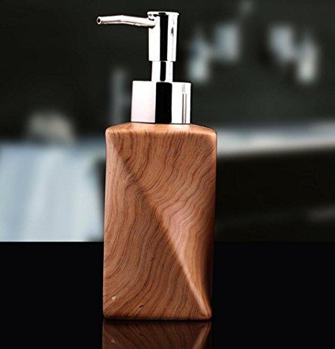 Distributeur de savon liquide, liquide hydro-alcoolique Flacon 300 ml rechargeables Céramique Distributeur de savon pour salle de bain