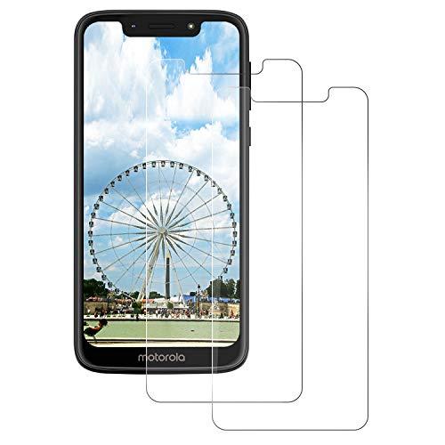 DOSNTO Panzerglas Schutzfolie für Motorola Moto G7 Play, Displayschutzfolie [2 Stück] [wasserdicht] [Blasenfrei] [Anti-Öl] [Ultrabeständige Härte 9H] Premium Kristallklar Panzerglasfolie