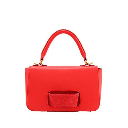 Yy.f Nuove Borse Di Modo Del Cuoio Di Modo Diagonale Sacchetto Di Spalla Signora Di Modo Esterno Multicolore Red