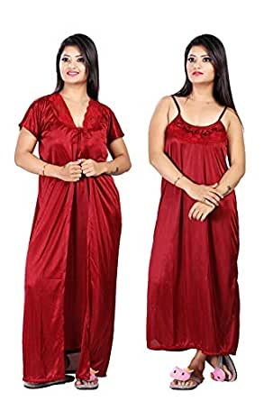 36d1d22bfd Clothing & Accessories · Women · Sleep & Lounge Wear · Nighties &  Nightdresses; TRUNDZ Fancy RED Color Nighty with Robe