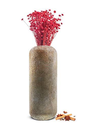 Sendez Vase aus Metall in Beton Optik Dekovase Metallvase Bodenvase Blumenvase Tischvase