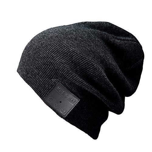 Upchenli Blue Ear Bean Bean Wireless Knit Wintermütze -